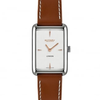 Ladies Tan Leather London Watch