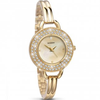 Ladies Dazzling Gold Bangle Fashion Watch 4223