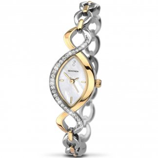 Ladies Two Tone Stone Set Bracelet Watch 2017