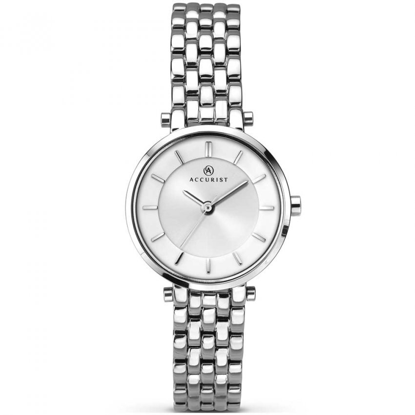 Accurist Ladies Classic Silver Tone Watch 8006