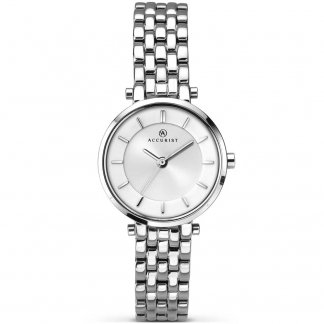 Ladies Classic Silver Tone Watch