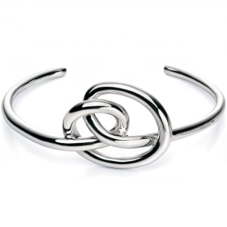 Ladies Silver Knot Bangle