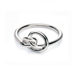 Ladies Silver Knot Ring