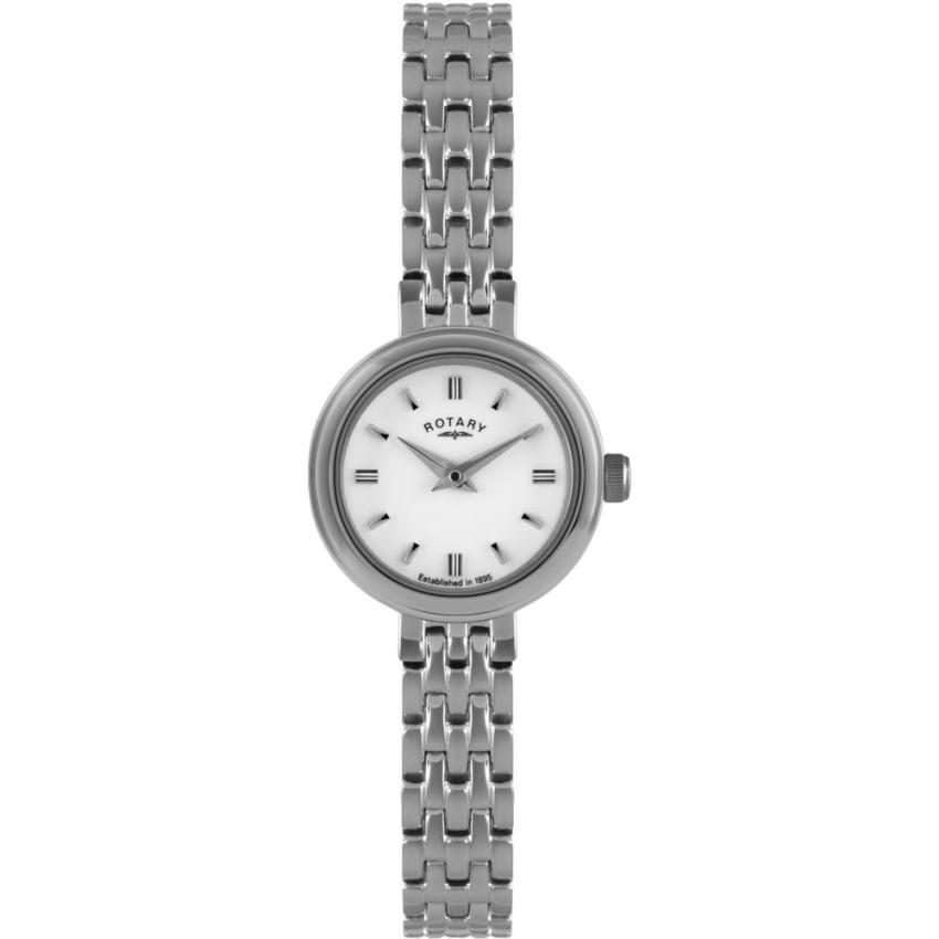 Rotary Ladies Silver Tone Dress Watch LB02086/02
