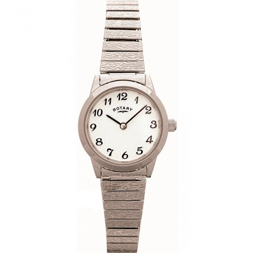 Rotary Ladies Silver Tone Expander Bracelet Watch LBI0761