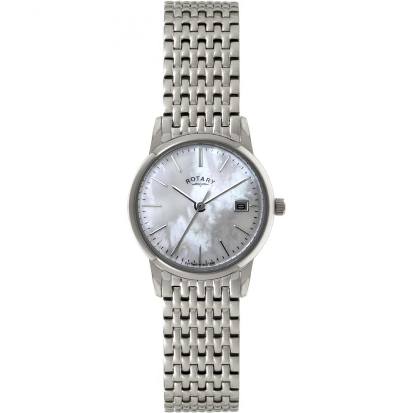 Ladies Silver Tone Mother of Pearl Dial Watch LB02750/41