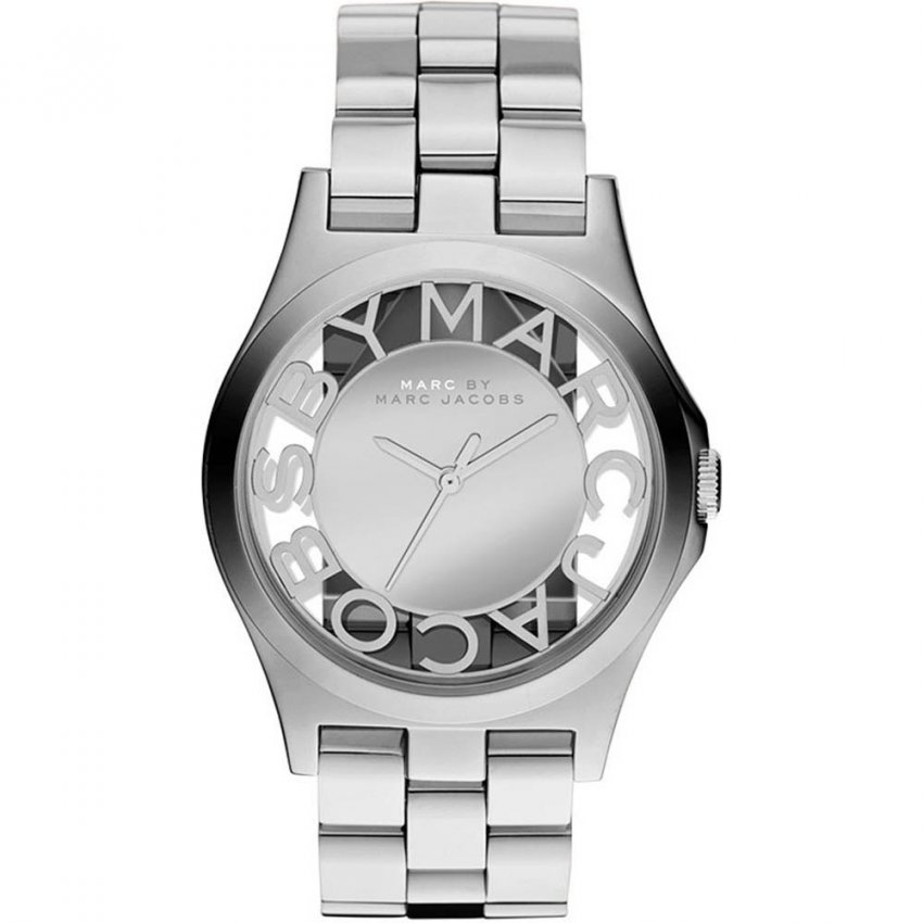 Marc Jacobs Ladies Skeleton Dial Henry Watch MBM3205
