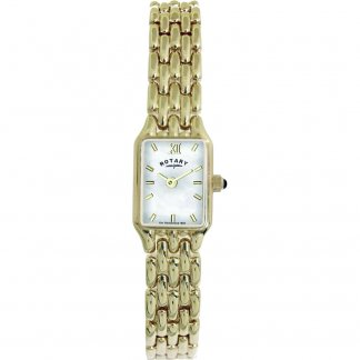 Ladies Slim Gold Plated Dress Watch