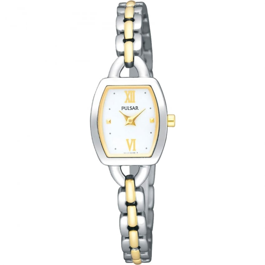 Pulsar Ladies Slim Two Tone Steel Watch PJ5409X1