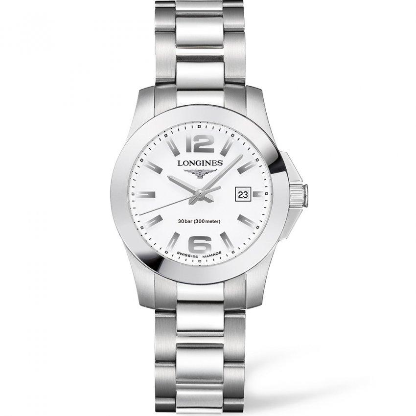 Longines Ladies Sport Conquest 300m Quartz Watch L3.277.4.16.6