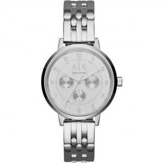 Ladies Stainless Steel Multifunction Watch