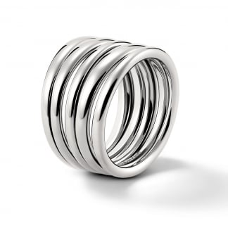 Ladies Stainless Steel 'Sumptuous' Ring (Size L 1/2)