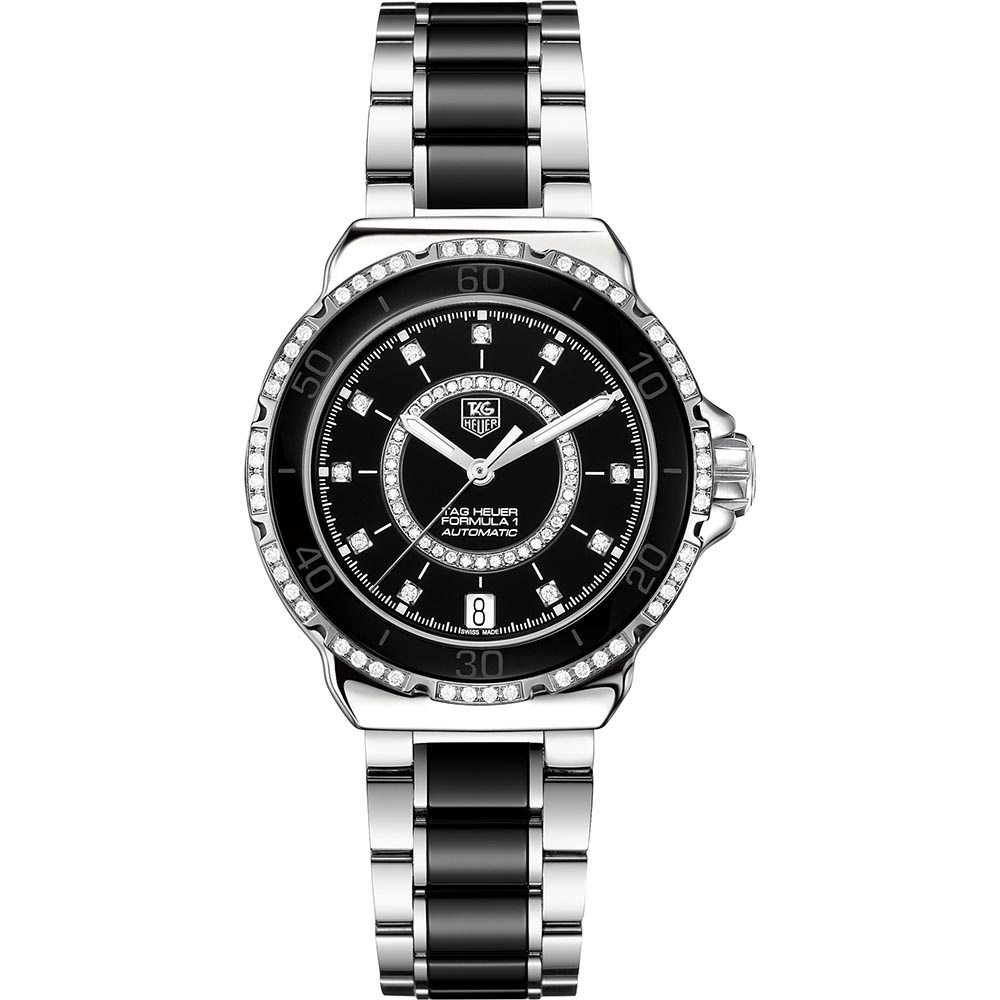 267b9f5bf00 TAG Heuer Ladies Automatic Formula 1 Steel   Ceramic Diamond Set Watch  Product Code  WAU2212.BA0859