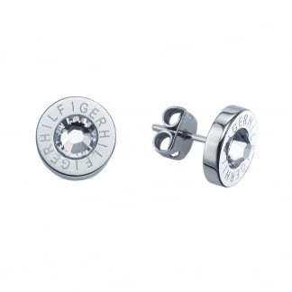 Ladies Steel and Cubic Zirconia Earring Studs
