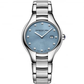 Ladies Steel Blue Dial Noemia Diamond Watch 5132-ST-50081