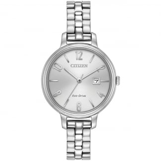 Ladies Steel Eco-Drive Silhouette Watch