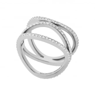 Ladies Steel Multi Strand Wave Ring