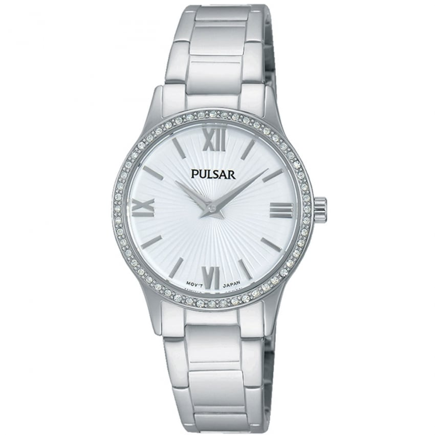 Pulsar Ladies Steel Swarovski Set Bezel Watch PM2171X1