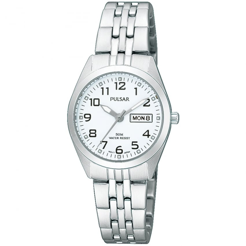 Pulsar Ladies Steel White Dial Classic Watch PN8003X1