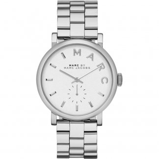 Ladies All Steel White Dial Baker Watch MBM3242