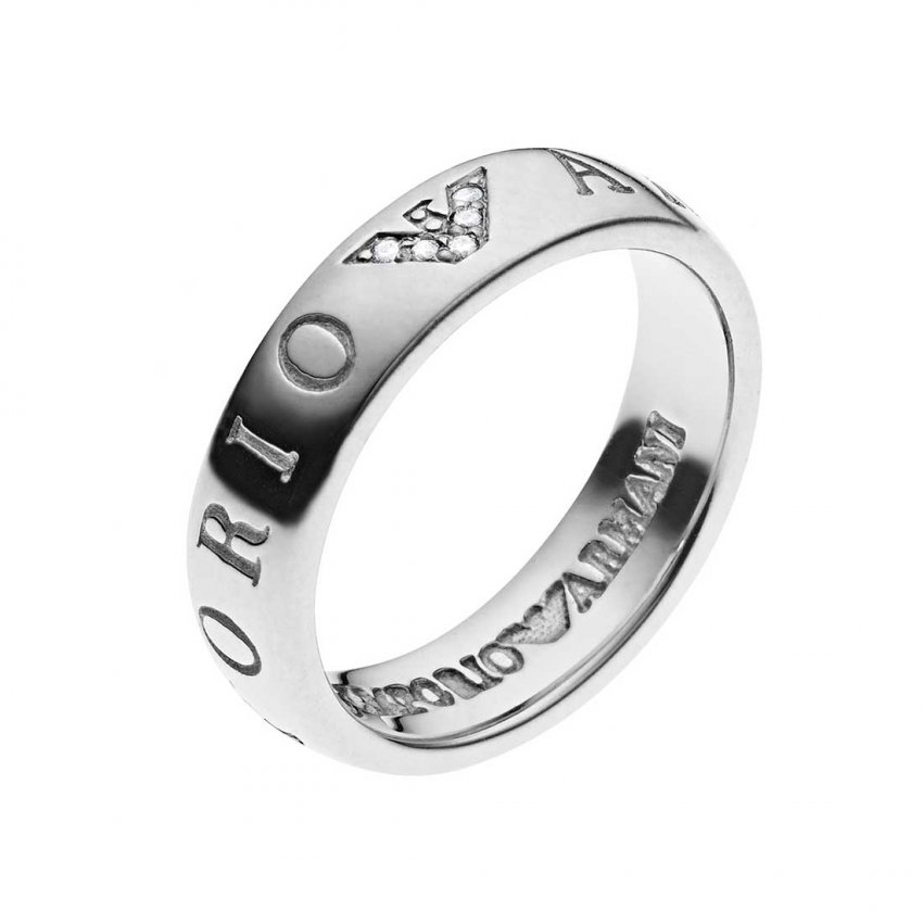 Emporio Armani Ladies Sterling Silver Ring EG3144040