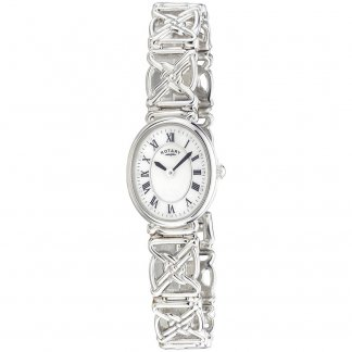 Ladies Sterling Silver Watch with Mother of Pearl Dial