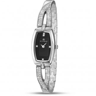 Ladies Stone Set Cross-Over Half-Bangle Watch