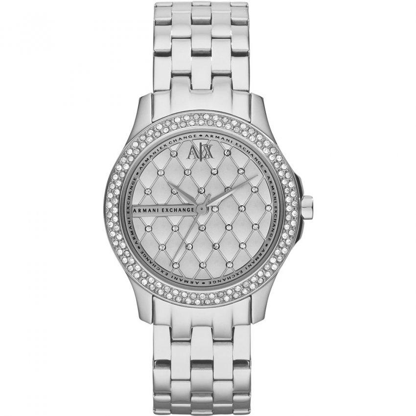 Armani Exchange Ladies Stone Set Fashion Watch AX5215