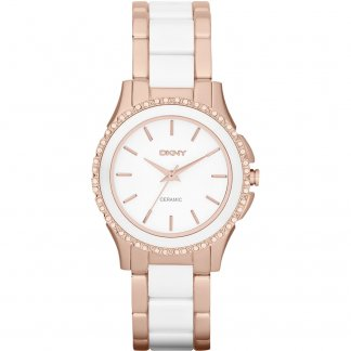 Ladies Stone Set Ceramic Brooklyn Watch NY8821