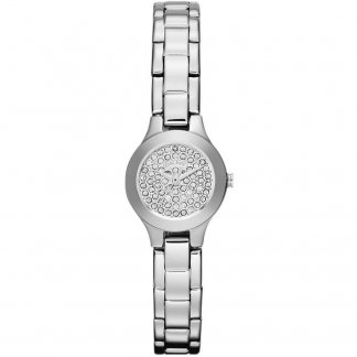 Ladies Stone Set Dial Steel Watch NY8691