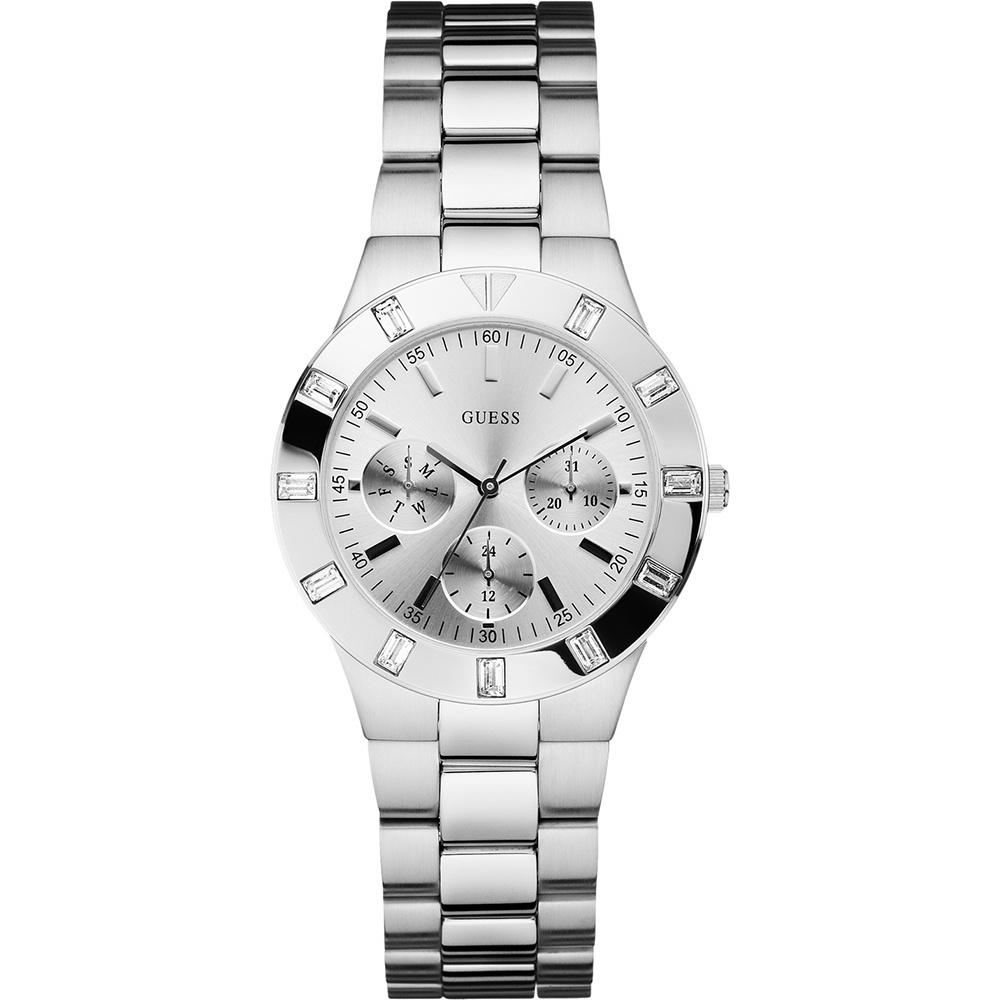 Guess Ladies Stone Set Glisten Silver Bracelet Watch Product Code  W11610L1 f20052d4d