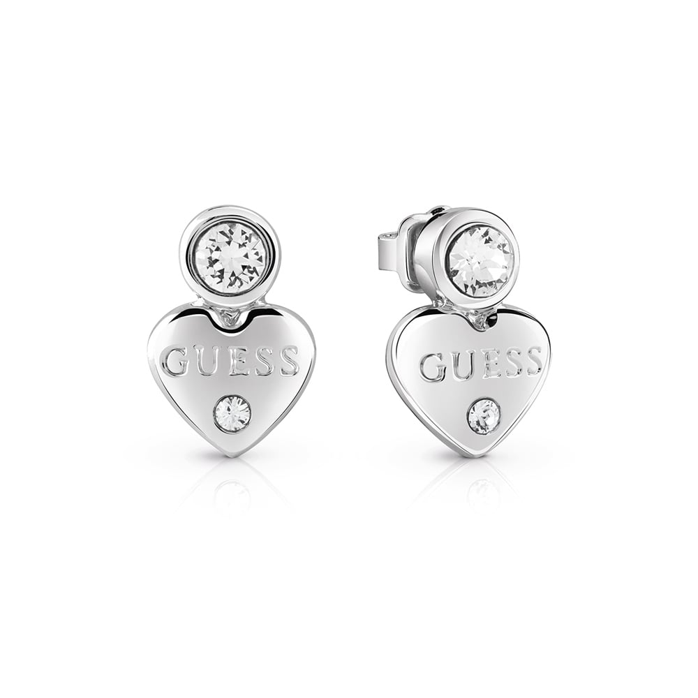 e6b77535c Guess Ladies Stone Set 'Guessy Heart' Earrings - Jewellery from ...