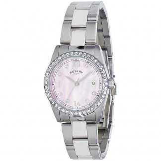Ladies Stone Set Havana MOP Dial Bracelet Watch