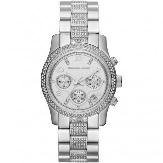 Ladies All Steel Stone Set Jetset Watch MK5825
