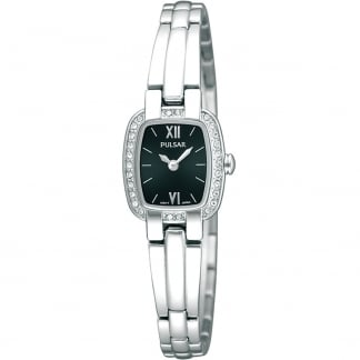 Ladies Stone Set Stainless Steel Watch