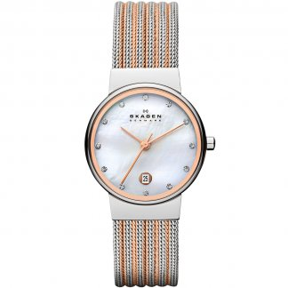 Ladies Stone Set Two Tone Ancher Watch