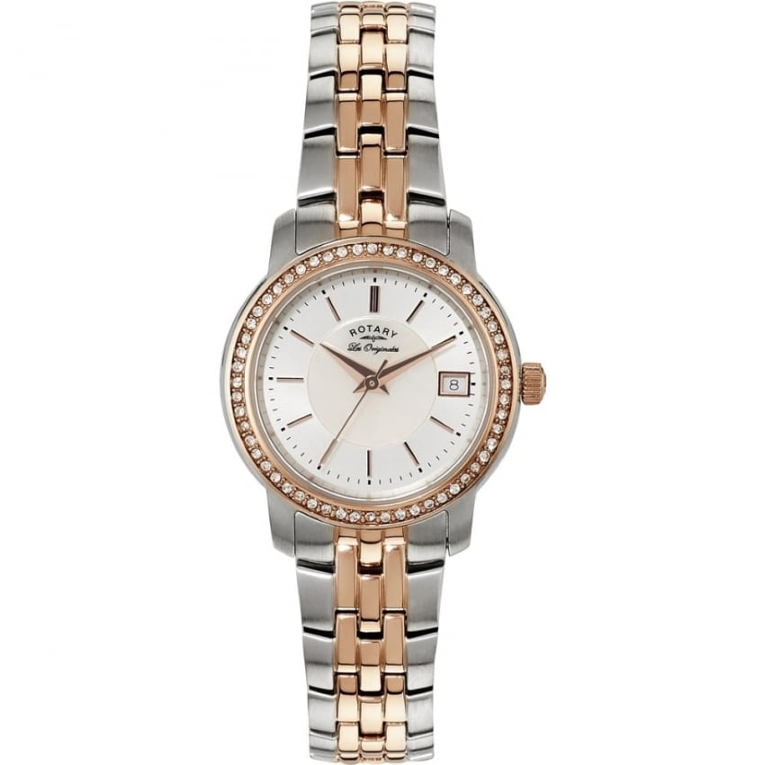 Rotary Ladies Stone Set Two Tone Les Originales Watch LB90092/41