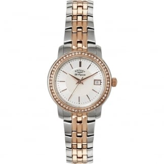 Ladies Stone Set Two Tone Les Originales Watch