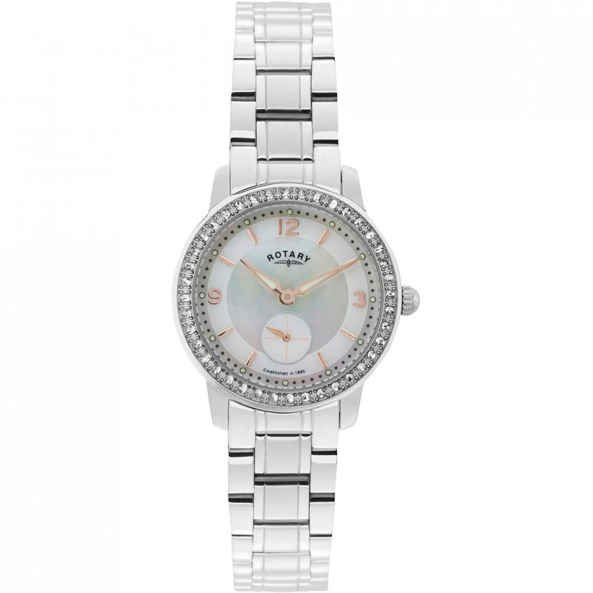 Rotary Ladies Stunning Stone Set Cambridge Watch LB02700/41