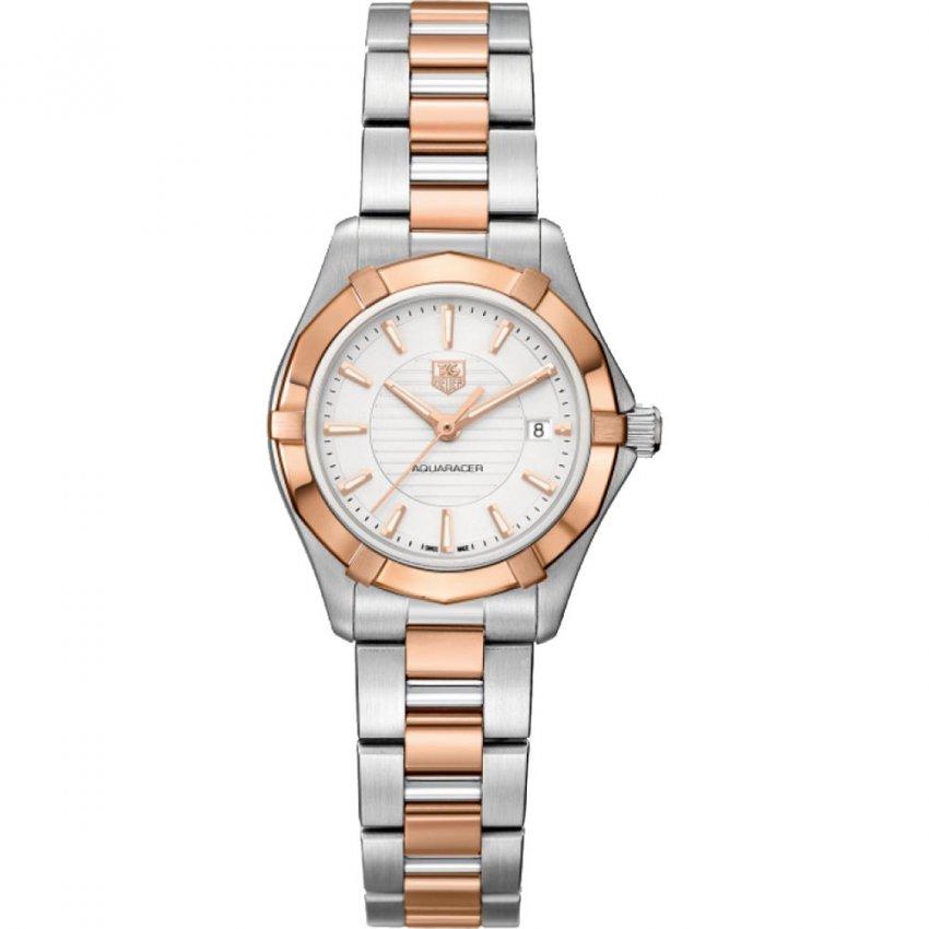 TAG Heuer Ladies Swiss Made Aquaracer 200m Dual Tone Watch WAP1450.BD0837