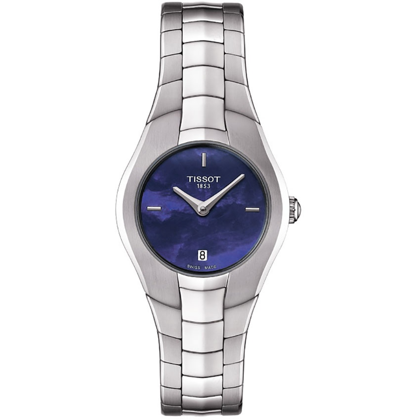 Tissot ladies t round blue mother of pearl watch watches from francis gaye jewellers uk for Pearl watches