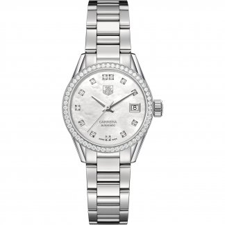 Ladies Carrera Diamond Encrusted Automatic Watch WAR2415.BA0770