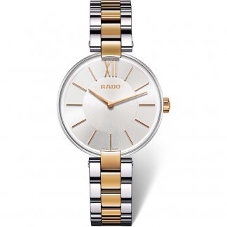 Ladies Thin Two Tone Coupole Swiss Quartz Watch R22850103