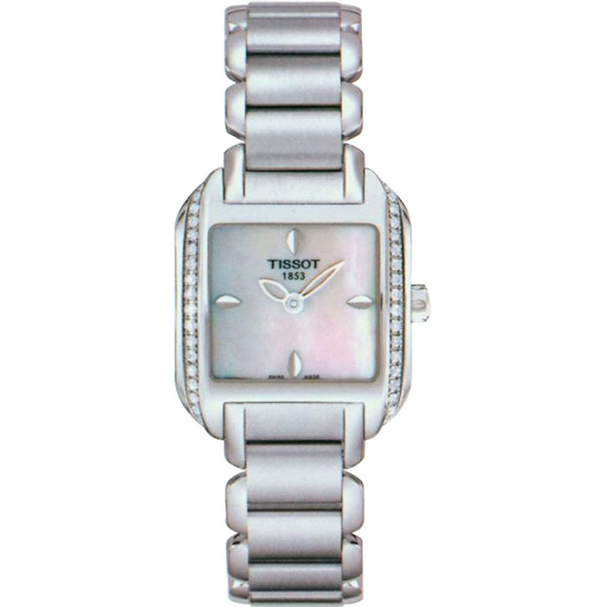Tissot Ladies Diamond Set Mother of Pearl Dial Wave Watch T02.1.385.71