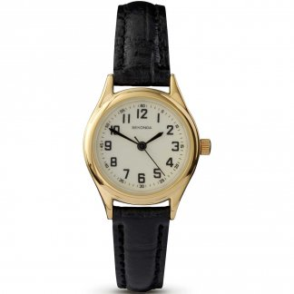 Ladies Traditional Leather Strap Watch