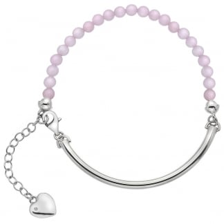Ladies Trend Adjustable Rose Quartz Bracelet