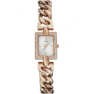 Ladies Trend Rose Gold Crystal Set Watch
