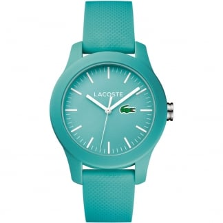 Ladies Turquoise 12.12 Silicone Strap Watch
