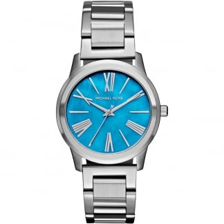 Ladies Turquoise Dial Silver Hartman Watch