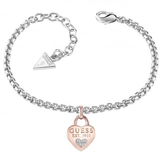 Ladies Two Tone 'All About Shine' Padlock Bracelet